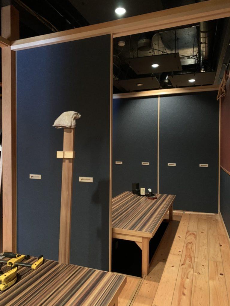 可動式間仕切建具の製作・据付工事
