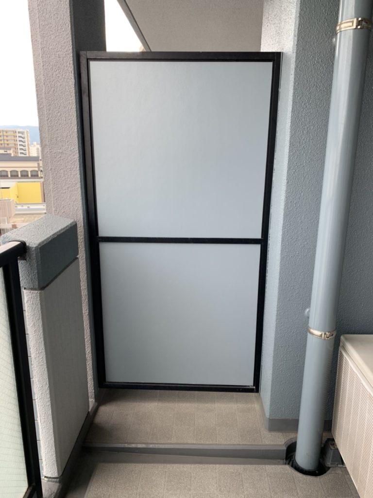 マンション防災設備(蹴破り戸)の復旧工事